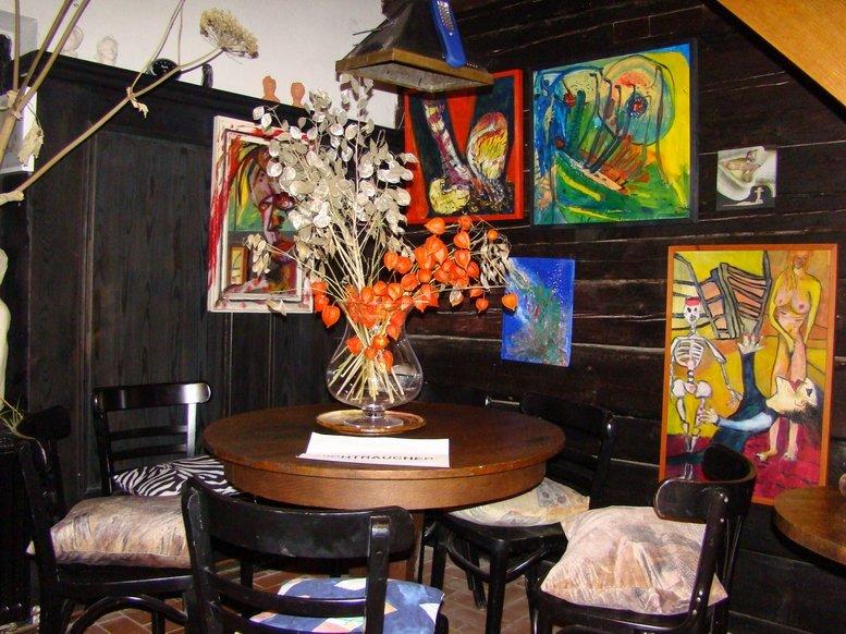 Stammtisch der Austausch-Bar Kunsthaus Eigenregie in Eschenbach