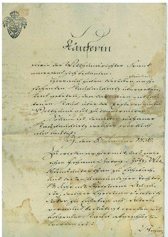 Königlich Sächsische Kaufurkunde von 1836
